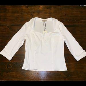 Lindy Bop Vamp White Shirt with Collared Neckline